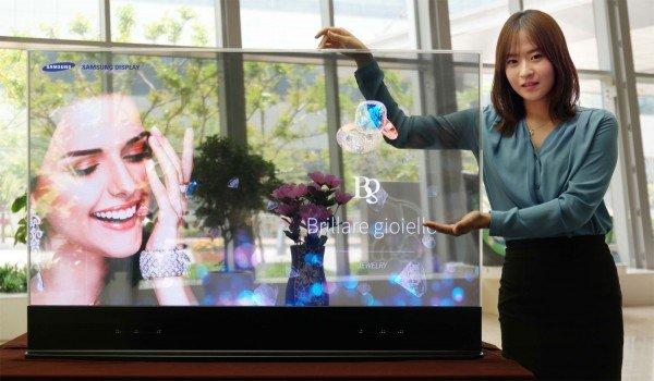 Przezroczysty OLED Samsunga