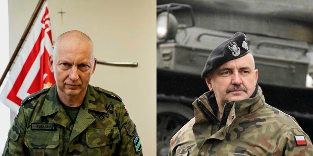 Od lewej gen. Różanski i gen. Mika