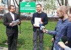 Pomnik Kaczy�skiego. Podpisy �odzian w radzie miejskiej