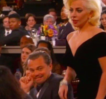 Złote Globy 2016, Leonardo DiCaprio, Lady Gaga