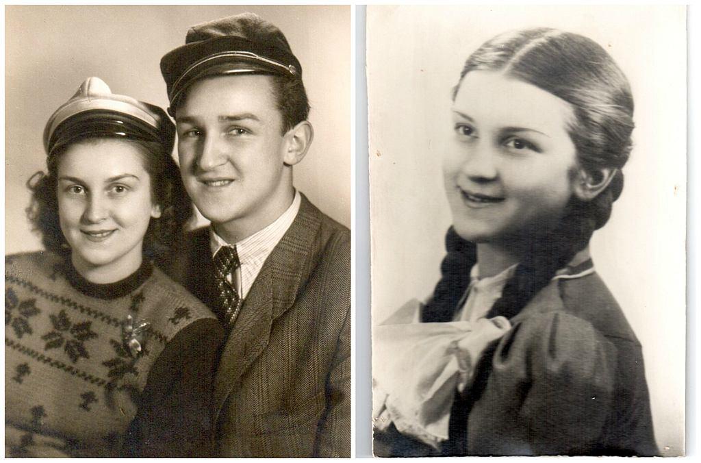 Hanka - z lewej z bratem Lolkiem w 1946 r., z prawej jako gimnazjalistka (fot. materiały wydawnictwa Poradnia K)