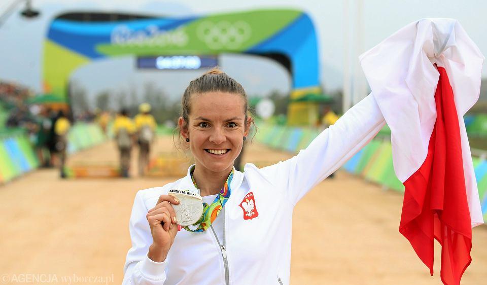 Maja Włoszczowska - wicemistrzyni olimpijska w kolarstwie górskim, zdobywczyni srebrnego medalu w Rio