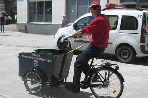 Stary Rynek. Rowery cargo pomogą w sprzątaniu ulic