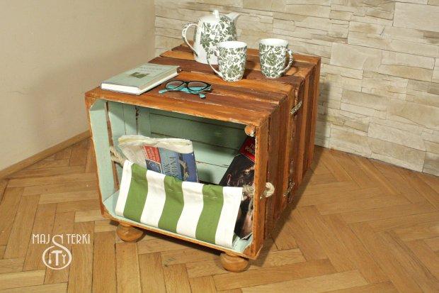 Meble Ogrodowe Z Drewna Zrob To Sam : Zrób to sam stolik z drewnianych skrzynek
