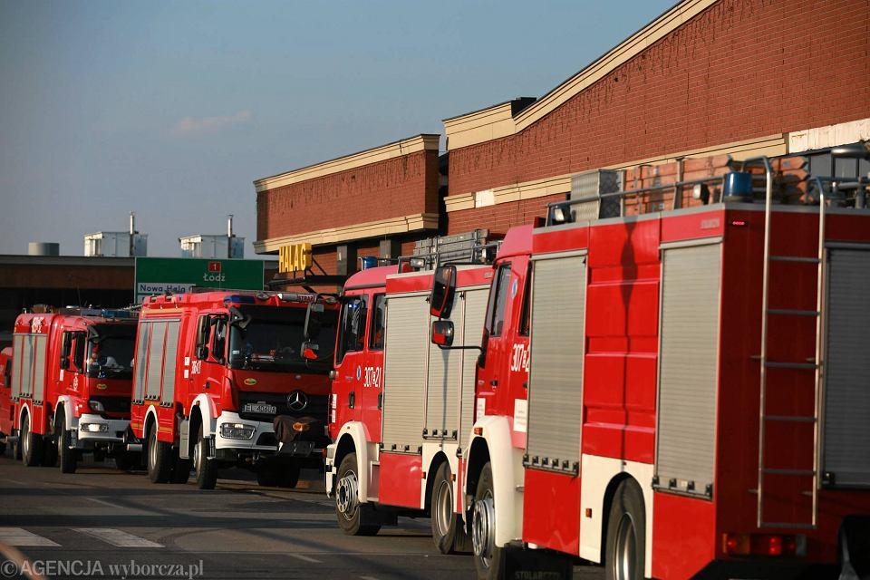 1335e25c86e8c Zdjęcie numer 1 w galerii - Pożar w CH Ptak. 20 zastępów straży pożarnej w
