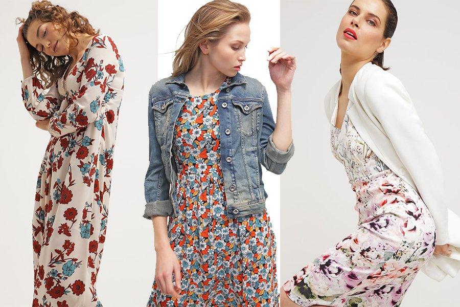 8bedac86e6 Co nosić do sukienki w kwiaty - jak stylowo dobrać dodatki