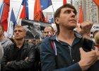 Dość cenzury, uwolnić więźniów politycznych... Demonstracja przeciwników polityki Putina w Moskwie