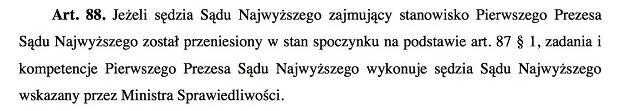Ustawa o Sądzie Najwyższym, art. 88