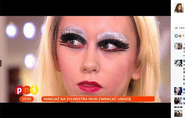 Makijaż sylwestrowy według 'Pytania na Śniadanie'