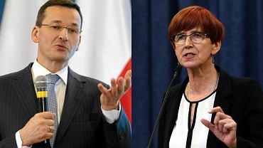 Mateusz Morawiecki, wicepremier, minister finansów i rozwoju oraz Elżbieta Rafalska, minister rodziny, pracy i polityki społecznej