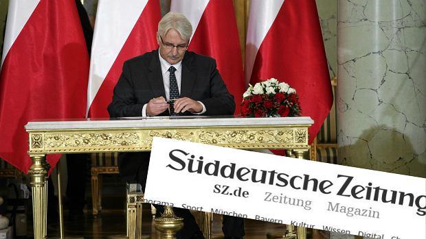 Witold Waszczykowski jest krytykowany przez niemiecki dziennik