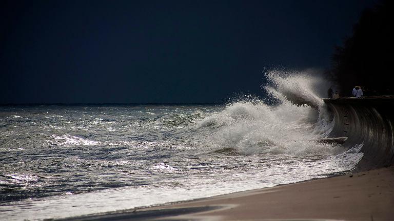 Silny wiatr i sztorm na Bałtyku
