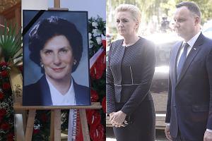 Pogrzeb Ireny Szewińskiej / Andrzej Duda i Agata Duda