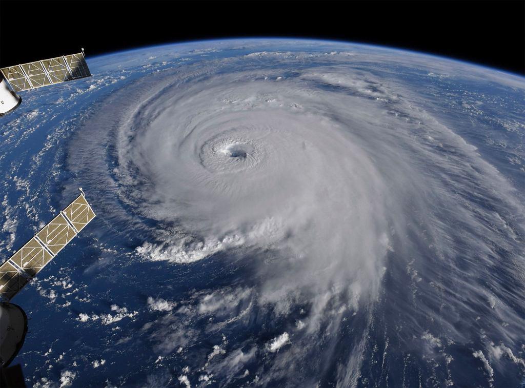 Huragan Florence widziany z kosmosu
