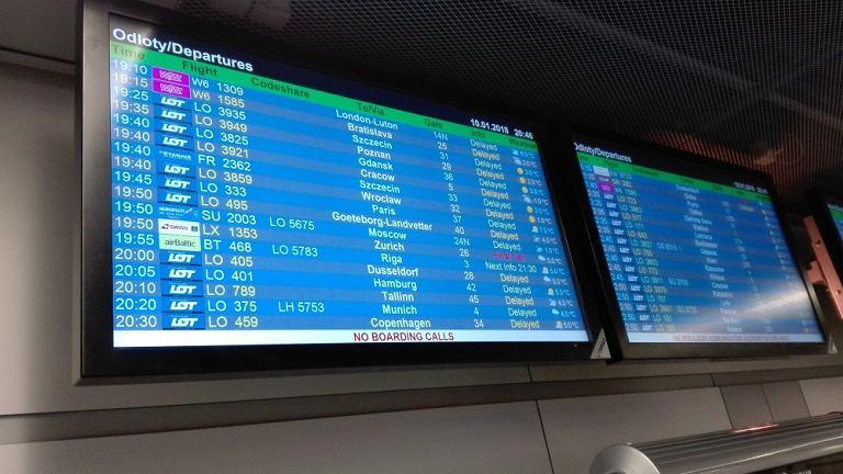 Samoloty odlecą z opóźnieniem