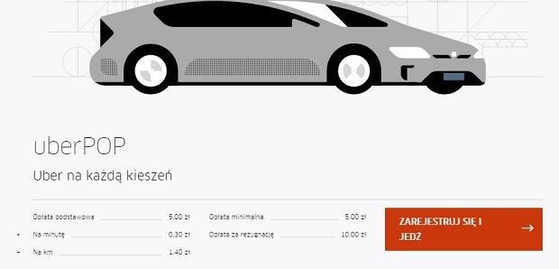 Cennik UberPop