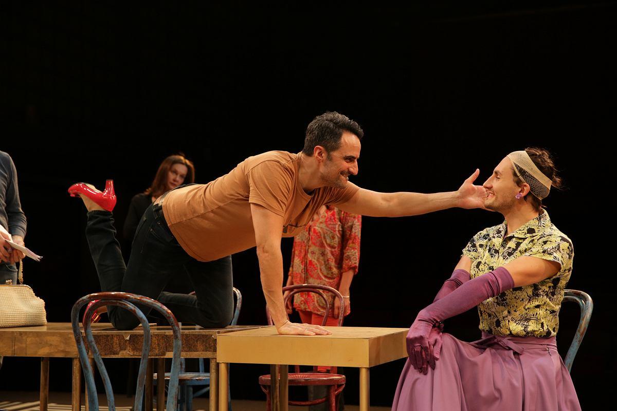 Cezary Żak i Maria Seweryn w spektaklu ''Casa Valentina'' Och-Teatru