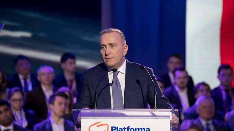 Grzegorz Schetyna na Radzie Krajowej PO