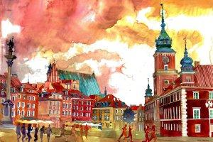 Miasta w akwareli - obrazy Polki zachwyciły internautów