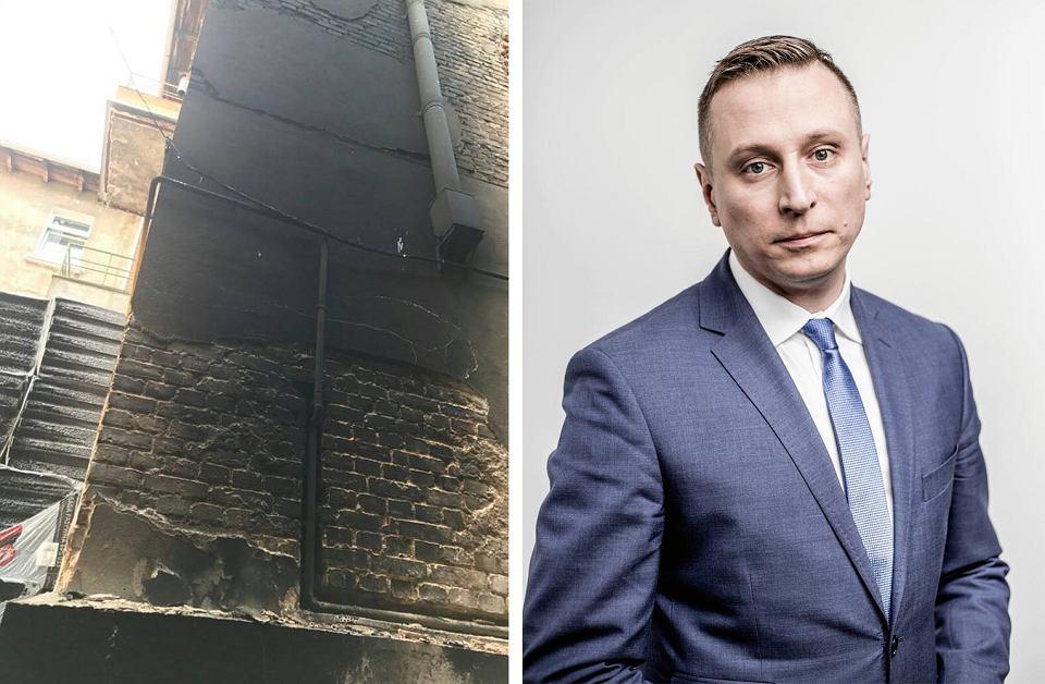 Podpalona kamienica, w której mieszka poseł Krzysztof Brejza