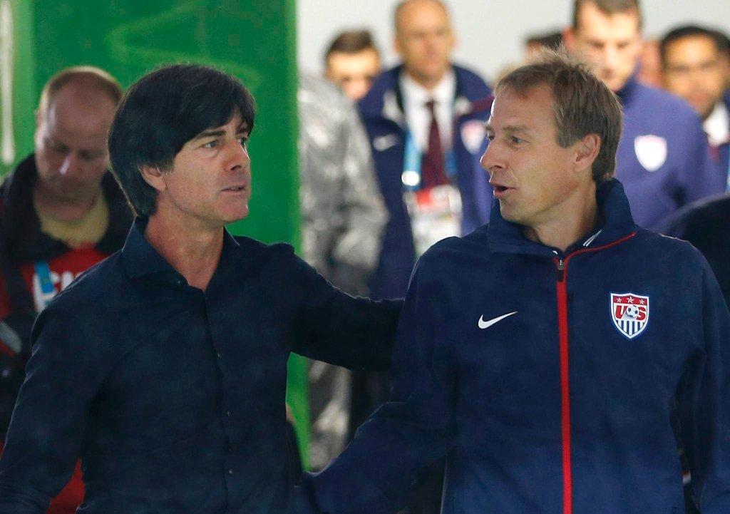 USA - Niemcy. Joachim Loew i Juergen Klinsmann