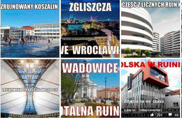 Polska w ruinie:-) Internauci wy�miali has�o, Szyd�o �agodzi przekaz PiS