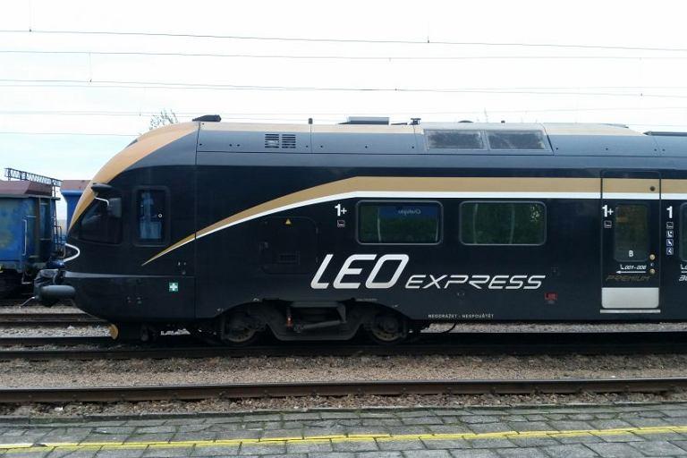 Pociąg LEO Express podczas testów w Polsce