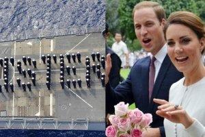 Marynarze gratuluj� Kate i Williamowi