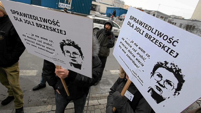 Pikieta w sprawie braku postępów w śledztwie po śmierci działaczki lokatorskiej Jolanty Brzeskiej, marzec 2013 r.