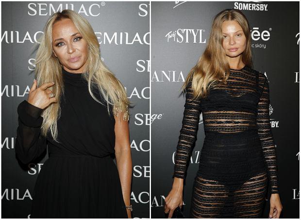 Joanna Przetakiewicz i Magdalena Frąckowiak na imprezie filmowej La Manii