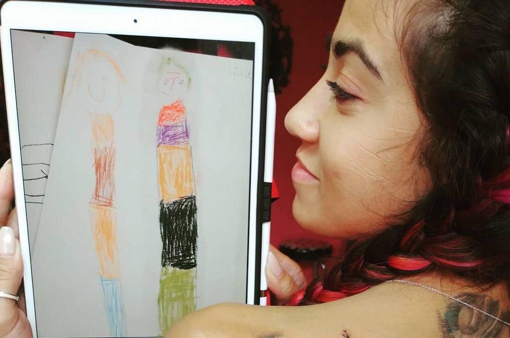Maja Hyży wytatuowała sobie na plecach rysunek swoich dzieci