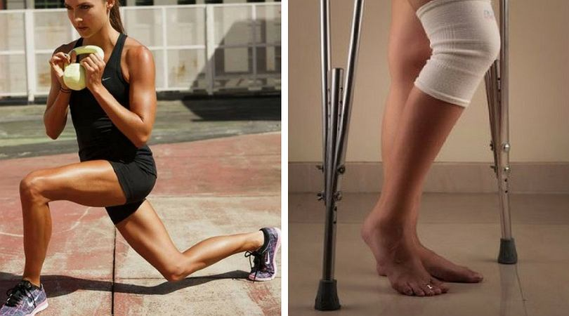 Kontuzja kolana często prowadzi do operacji, po której następuje długa rehabilitacja.