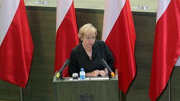 Pierwsza Prezes Sądu najwyższego Małgorzata Gersdorf podczas Zgromadzenia Ogólnego Sędziów Sądu Najwyższego. Warszawa, 14 czerwca 2016