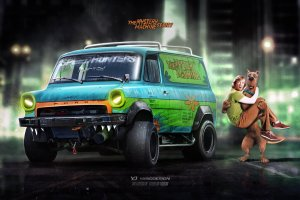 Nowa wizja auta Scooby'ego | Mystery Machine w wersji hardcore
