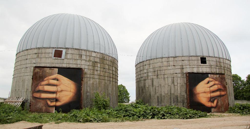 Murale stworzył Nikita Nomerz. Niżny Nowogród, Rosja