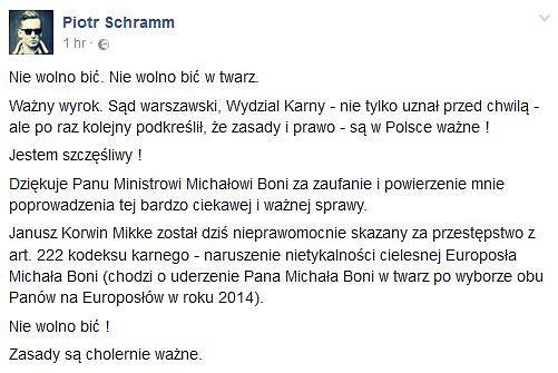 Adwokat Michała Boniego