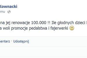 "Pose� PiS napisa� na Facebooku: ""P�onie pedalska t�cza"""