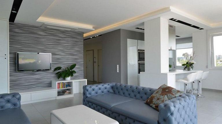 Apartament z widokiem na wzgórza Budy zaprojektowany przez Adamdesign Belsoépitész Studio. Budapeszt, Węgry