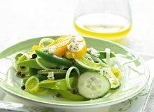 Zielona sałatka z porem - ugotuj