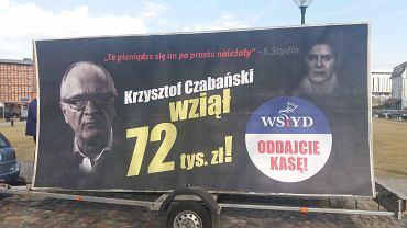 Konferencja posłów PO w Bydgoszczy w sprawie pseudonagród wypłaconych członkom rządu PiS