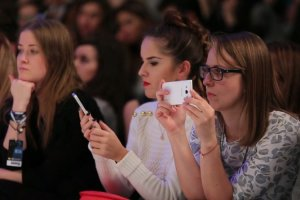 Marcelina Zawadzka, Joanna Jabłczyńska i Ada Fijał podczas 13 edycji Fashion Week w Łodzi