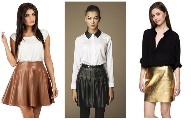 Skórzane spódnice - z czym je nosić?