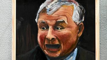 Jarosław Kaczyński na 35 portretach wystawy w Pabianicach