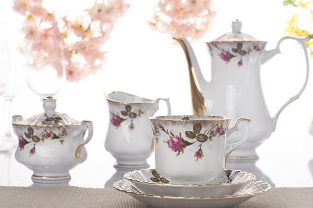 Najpiękniejsze serwisy kawowe w kwiatowe wzory
