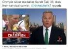Wicemistrzyni olimpijska w wio�larstwie Sarah Tait zmar�a na raka