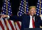 Prezydent USA Donald Trump na mównicy. Sioux Falls, 7 września 2018