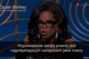 Poruszające przemówienie Oprah Winfrey. Wsparła kobiety doświadczające przemocy