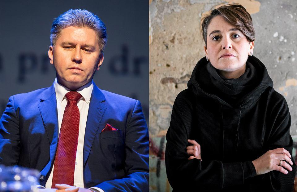 Prof. Marcin Matczak i Anna Dąbrowska z fundacji 'Homo Faber'