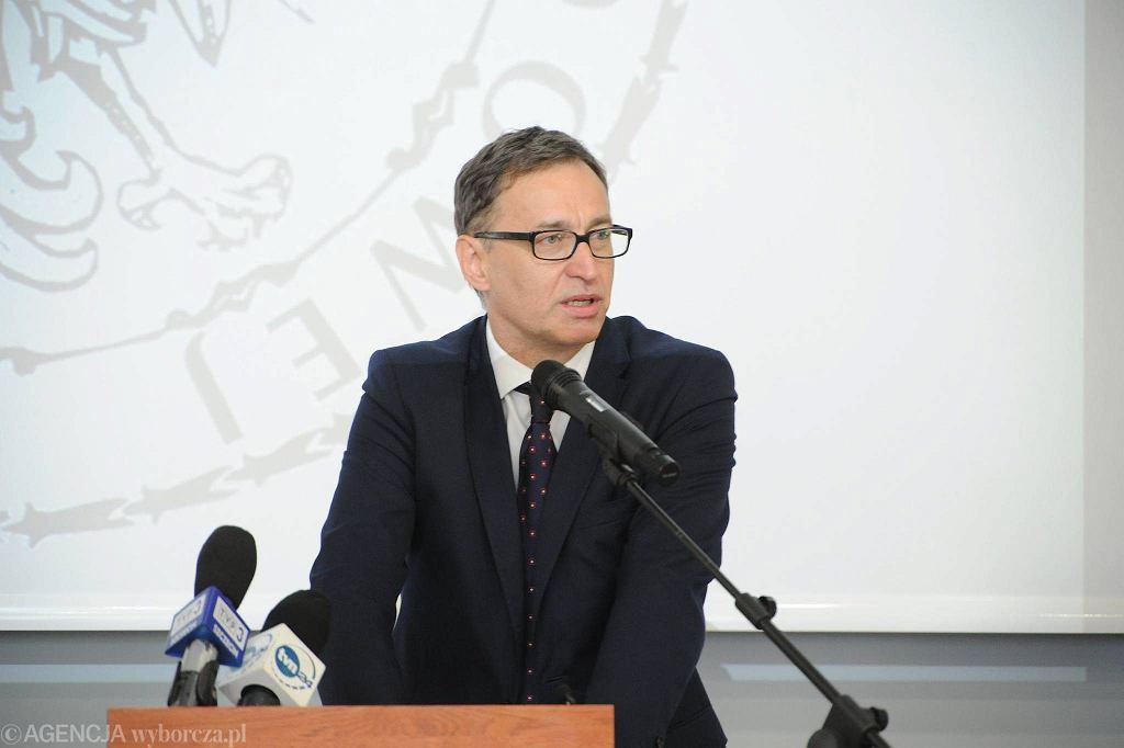 Ogólnopolskie obchody 35-lecia Solidarności Walczącej w Szczecinie. Prezes IPN Jarosław Szarek