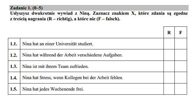 Matura 2015 język niemiecki podstawowy nowa matura